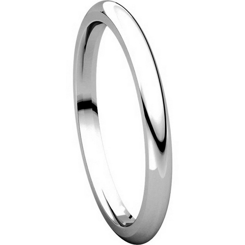 Item # UH123782PP - Platinum 2mm Heavy Comfort Fit Plain Wedding Band View-5