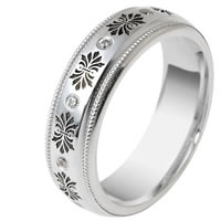 Platinum Verona Lace Wedding Band