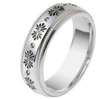 Item # V11471W - 14K Verona Lace Wedding Band