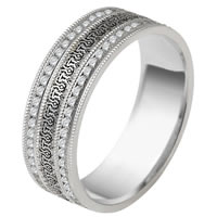 Item # V11472PD - Palladium Verona Lace Eternity Wedding Band