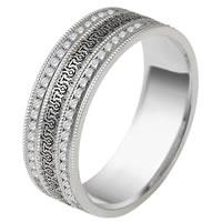 14K Diamond Verona Lace Design Eternity Band