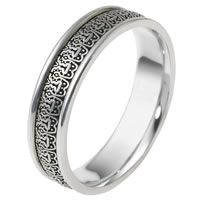 Item # V11473PD - Palladium Verona Lace Wedding Band