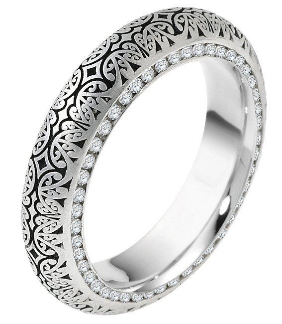 item v11474pp platinum verona lace design eternity wedding ring juliet - Palladium Wedding Rings