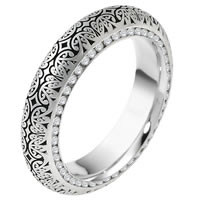 Platinum Verona Lace Design Eternity Wedding Ring Juliet