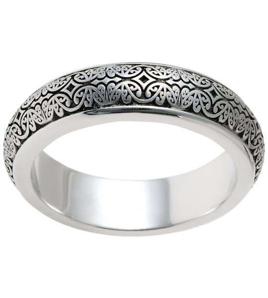 Item # V11475WE - 18K Verona Lace Wedding Band, Romeo View-2
