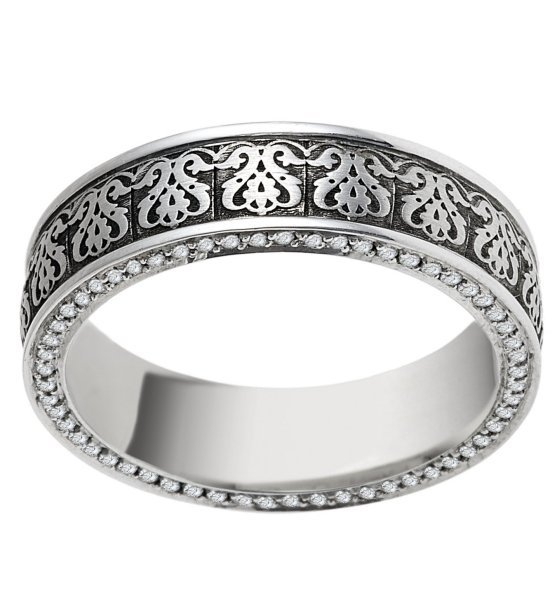 Item # V11476PP - Platinum Verona Lace Eternity Ring View-2