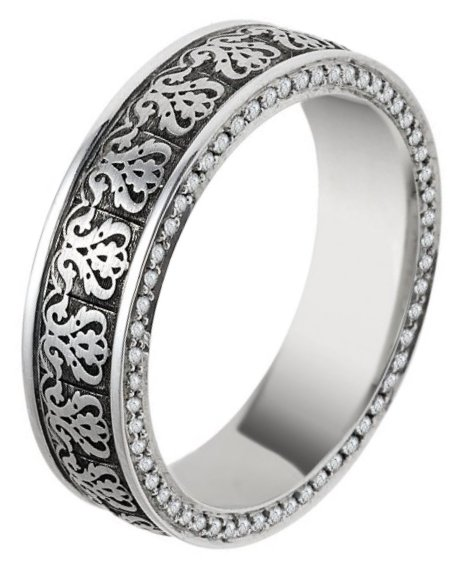 Item # V11476PP - Platinum Verona Lace Eternity Ring View-1