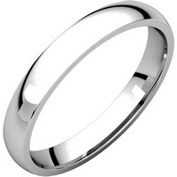 Item # V123791WE - 18K White Gold Plain 3mm Comfort Fit Wedding Band