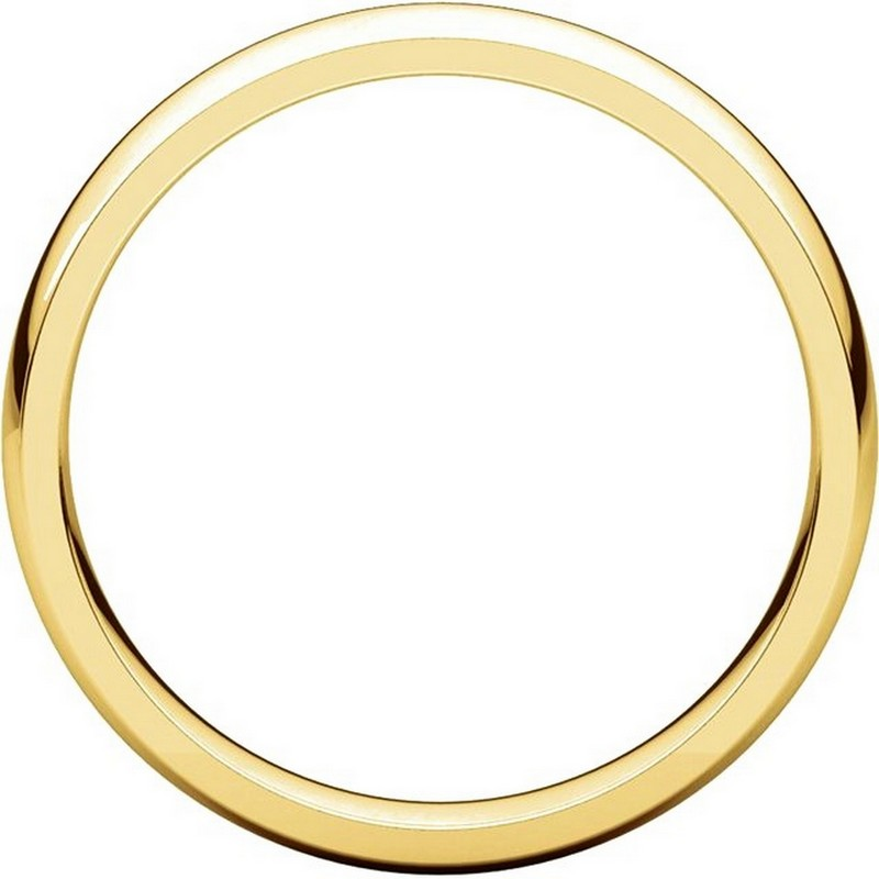 Item # V123801 - 14K Gold Traditional Plain 4mm Comfort Fit Band View-2