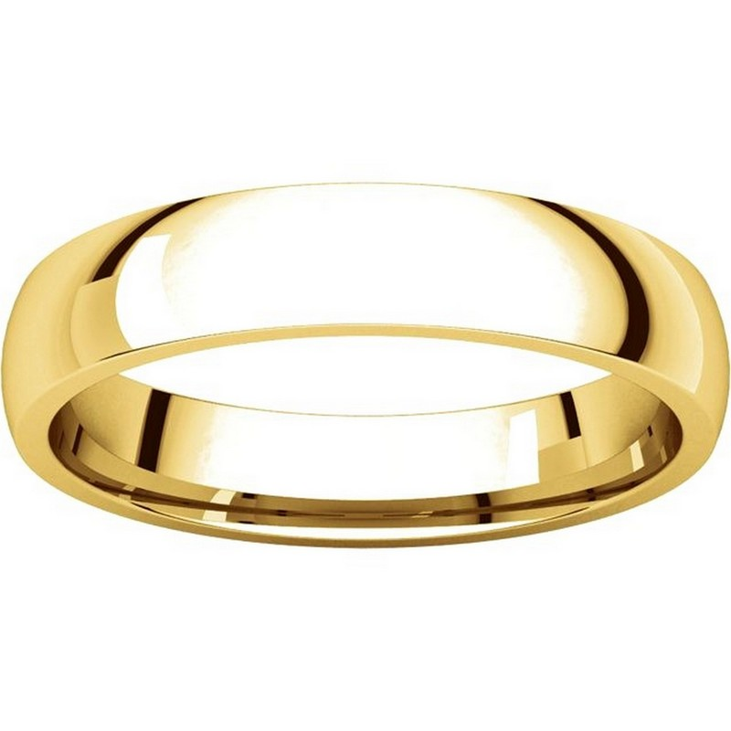 Item # V123801E - 18K Gold Traditional Plain 4mm Comfort Fit Band View-3