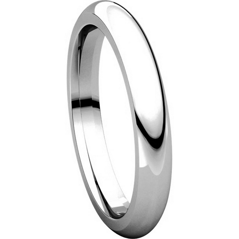 Item # VH123793PP - Platinum 3mm Heavy Comfort Fit Plain Wedding Band View-5