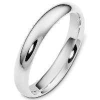 Item # VH123804AG - Silver 4mm Wide Heavy Comfort Fit Plain Wedding Band