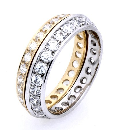 18K Gold Diamond Eternity Band