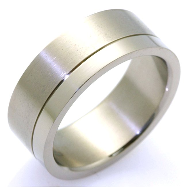 Item # WB7665TI - Titanium Wedding Band View-1