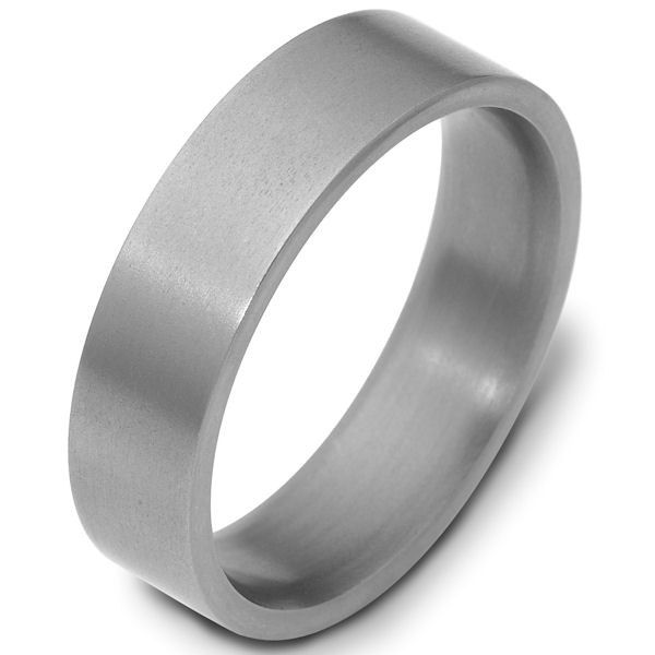 Titanium 6mm Wide Comfort Fit Wedding Band