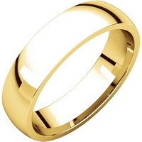 Item # X123811E - 18K Gold 5mm Comfort Fit Plain Wedding Band