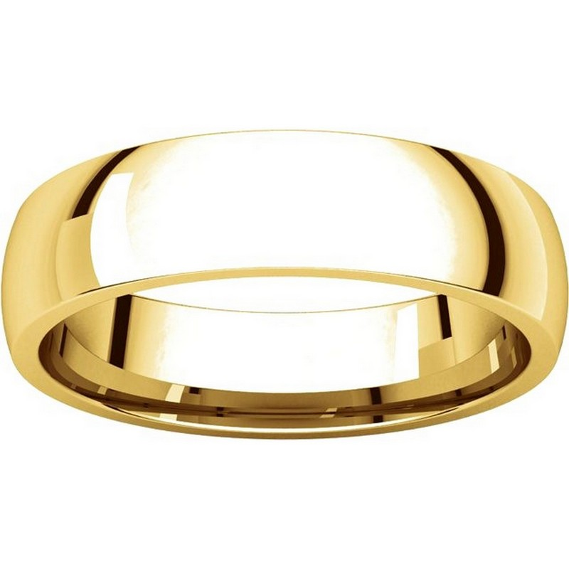 Item # X123811E - 18K Gold 5mm Comfort Fit Plain Wedding Band View-3