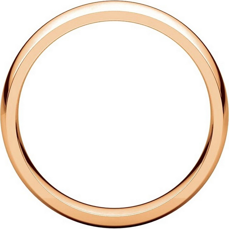 Item # X123811R - 14K Rose Gold 5mm Comfort Fit Wedding Bands View-2