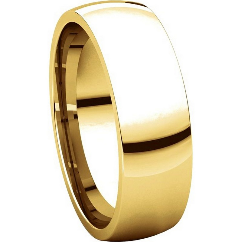 Item # X123821E - 18K Gold 6 mm Comfort Fit Plain Wedding Band View-5