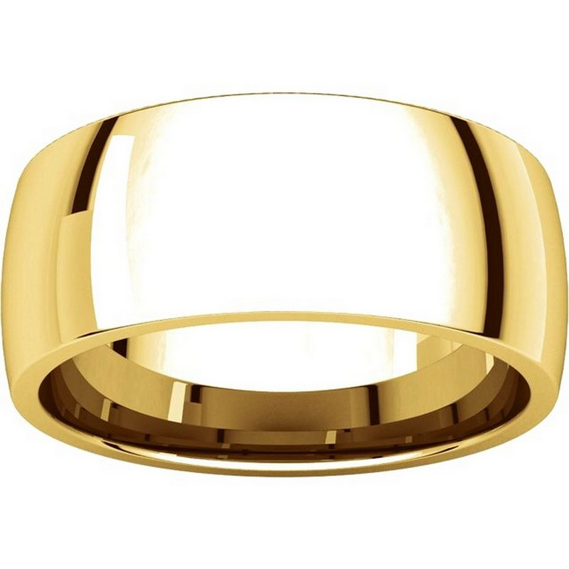 Item # X123831 - 14K Gold 8mm Comfort Fit Plain Wedding Band View-3