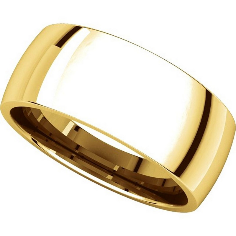Item # X123831 - 14K Gold 8mm Comfort Fit Plain Wedding Band View-4