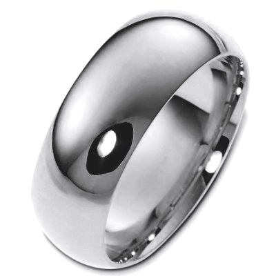 Titanium 8mm Wide Comfort Fit Wedding Band