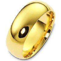 Item # XH1168310E - 18K Yellow Gold 10mm Heavy Comfort Fit Wedding Band