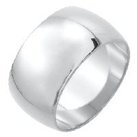 Item # XH1168312AG - Silver 925 12mm Heavy Comfort Fit Plain Wedding Band