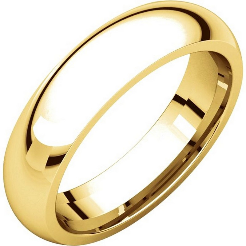 Gold 5mm Heavy Comfort Fit Wedding Band