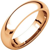Item # XH123815RE - 18K Rose Gold 5mm Heavy Comfort Fit Wedding Band