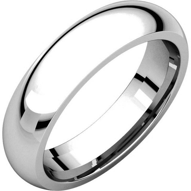 14K White Gold Heavy 5mm Comfort Fit Wedding Band