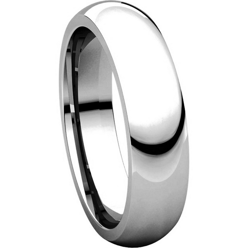 Item # XH123815PD - Palladium 5mm Heavy Comfort Fit Wedding Band View-5