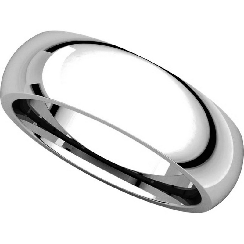 Item # XH123826PD - Palladium 6mm Heavy Comfort Fit Plain Wedding Band View-4