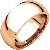Item # XH123838R - 14K Rose Gold 8mm Comfort Fit Wedding Band