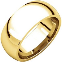 14K Yellow Gold 8mm Comfort Fit Wedding Band
