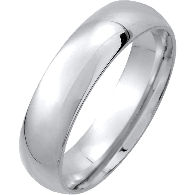 Platinum Medium Weight 5mm His and Hers Comfort Fit Wedding Band