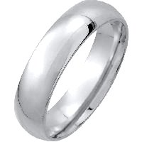 Item # XM123815W - 14K Medium Weight 5mm Comfort Fit Wedding Band
