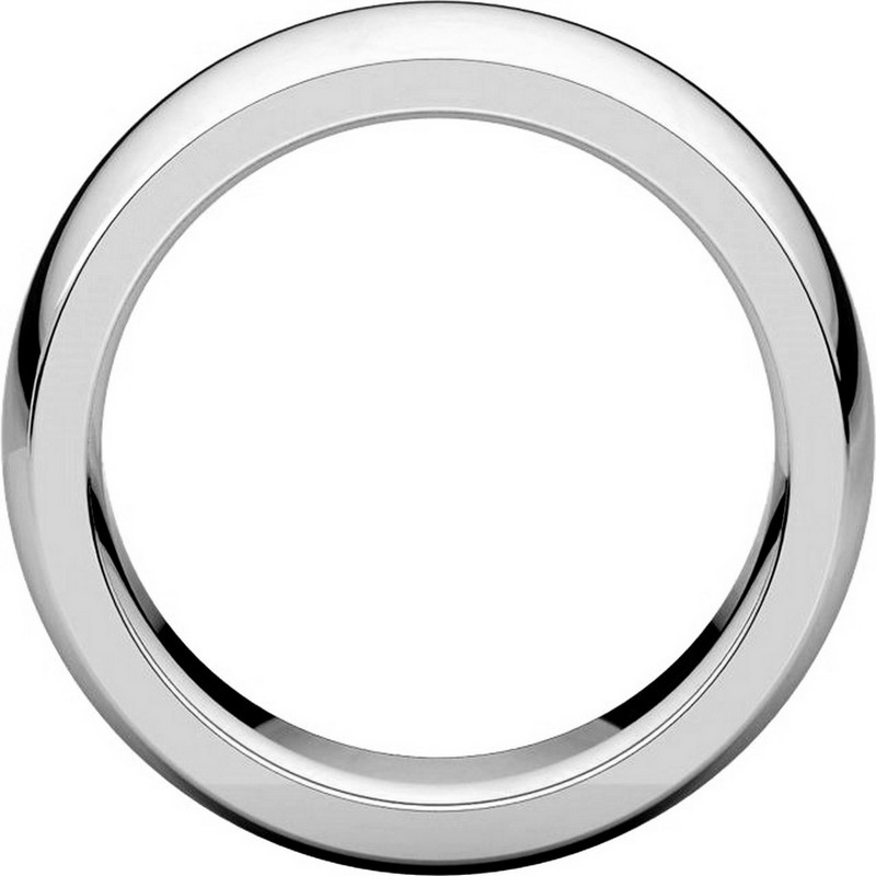 Item # XVH123838W - 14K White Gold 8mm Very Heavy 8mm Plain Comfort Fit Band View-2
