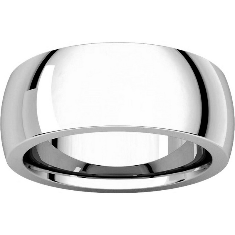 Item # XVH123838W - 14K White Gold 8mm Very Heavy 8mm Plain Comfort Fit Band View-3