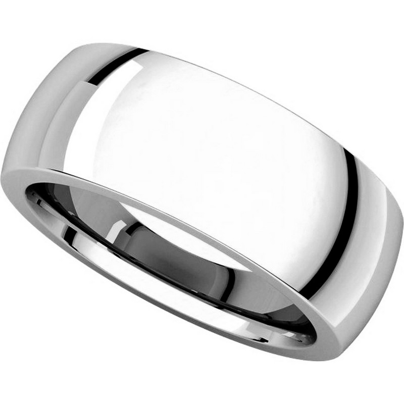 Item # XVH123838W - 14K White Gold 8mm Very Heavy 8mm Plain Comfort Fit Band View-4