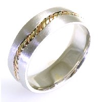 Item # A122261E - 18K Handcrafted Wedding Ring