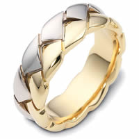 Item # A122581NA - 14K Two-Tone Braided Band