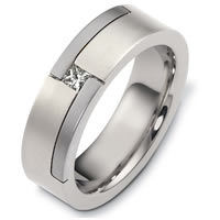 Item # A124441W - 14K White Gold Diamond Wedding Band