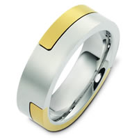 Item # A124731E - 18K Two-Tone Gold Wedding Ring