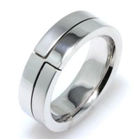Item # A124731W - 14K White Gold Wedding Band.