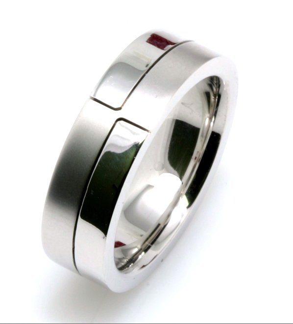 Item # A124731WE View 3 - 18K White Gold Wedding Band.