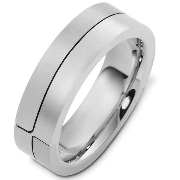 Item # A124731WE View 4 - 18K White Gold Wedding Band.