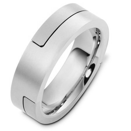 Item # A124731WE View 5 - 18K White Gold Wedding Band.