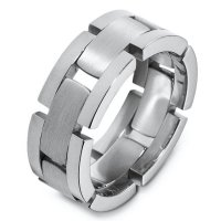 Item # A124941W - 14 K White Gold Wedding Band.