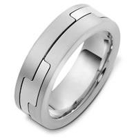 Item # A124961W - 14K White Gold Wedding Band.